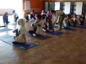 Teens doing Yoga
